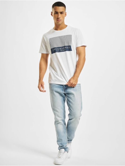 Jack & Jones T-Shirt JjStroke blanc