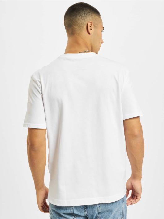 Jack & Jones T-Shirt Jjerelaxed Corp EMB O-Neck blanc