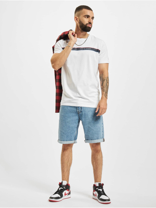Jack & Jones T-Shirt Jprblaline Crew Neck blanc