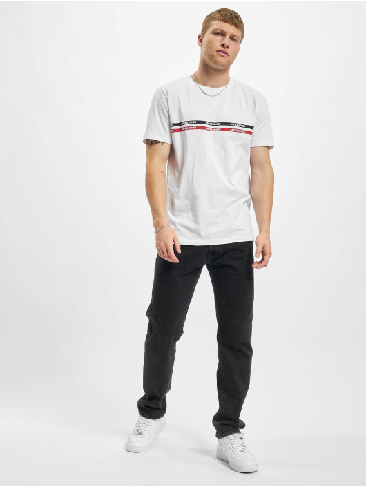 Jack & Jones T-Shirt Jjgavin blanc
