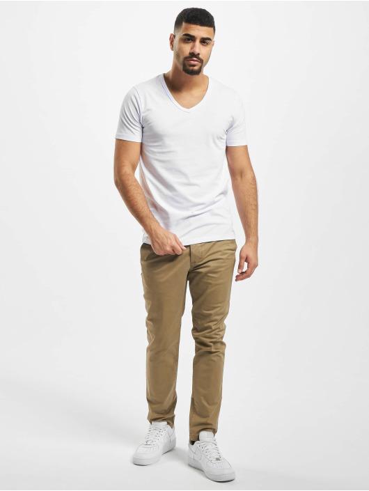 Jack & Jones T-Shirt Core Basic V-Neck blanc