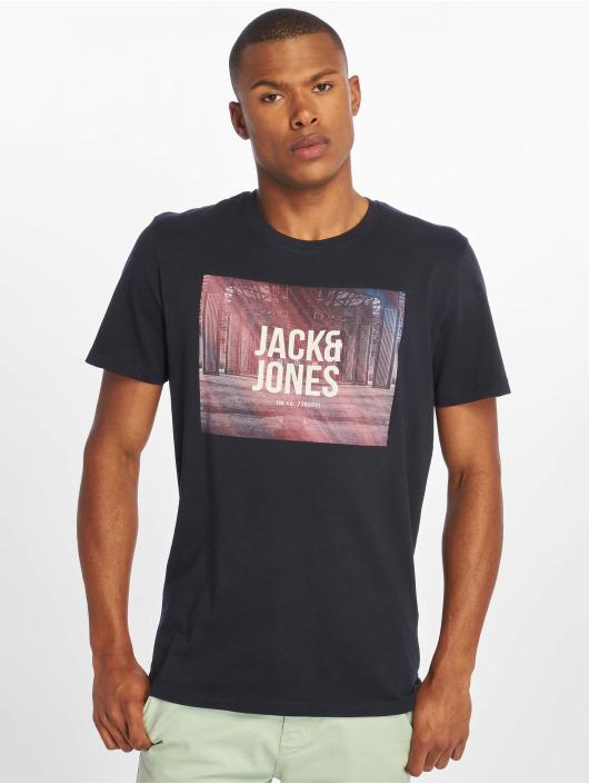 Jack & Jones T-Shirt jcoSpring-Feel blau