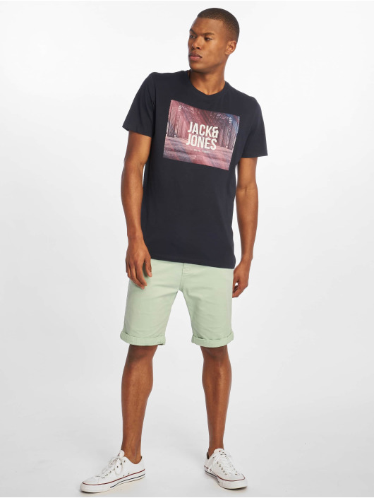 Jack & Jones T-Shirt jcoSpring-Feel blau