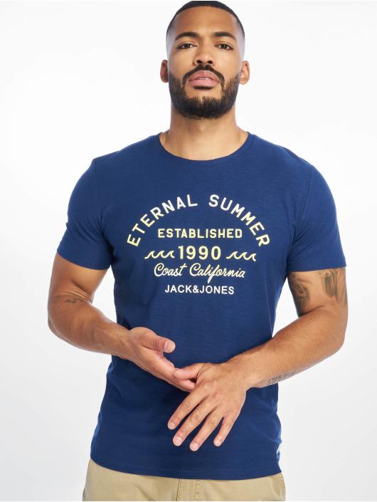 Jack & Jones T-Shirt jorDeepsurf blau