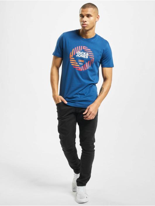 Jack & Jones T-Shirt jcoFriday-Disc blau
