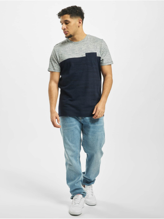 Jack & Jones T-Shirt jjeMix Crew Neck blau