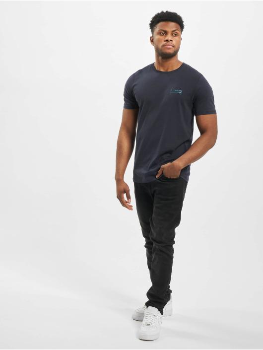 Jack & Jones T-Shirt jcoGrid Crew Neck blau