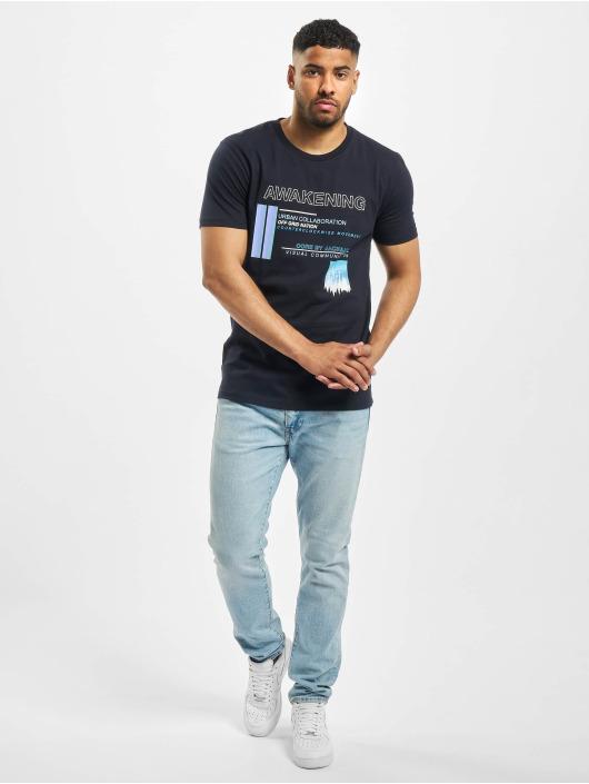 Jack & Jones T-Shirt jcoNikon Crew Neck blau