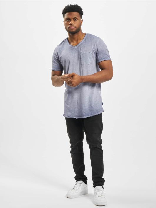 Jack & Jones T-Shirt jorKris BAS Crew Neck blau