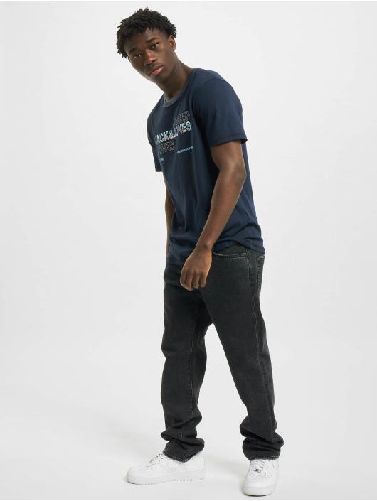 Jack & Jones T-Shirt jcoArt blau