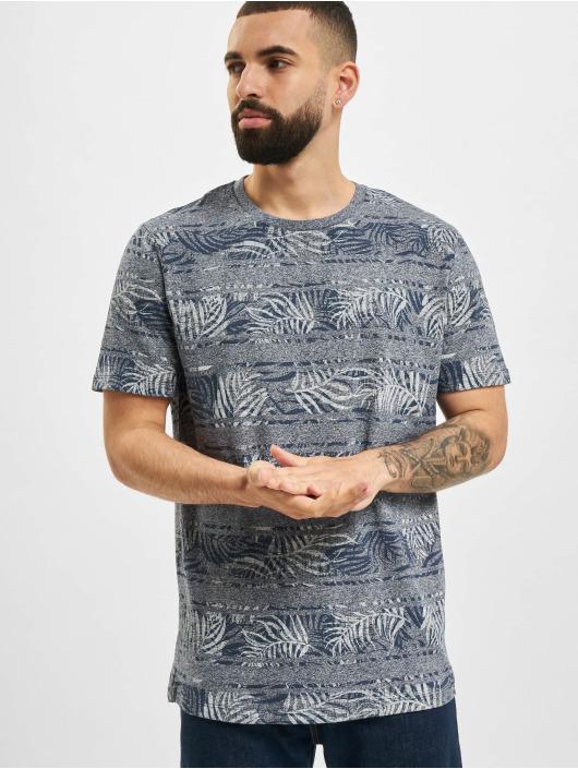Jack & Jones T-Shirt JPR Bludust Placement Stripe blau