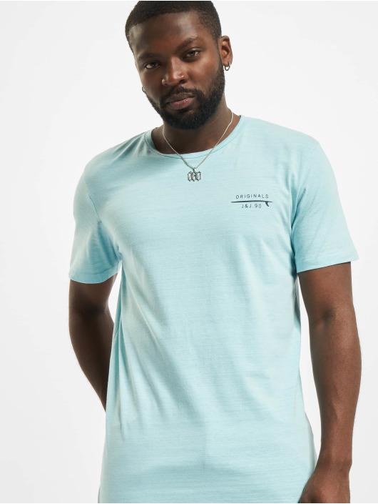 Jack & Jones T-Shirt Jorpoolside blau