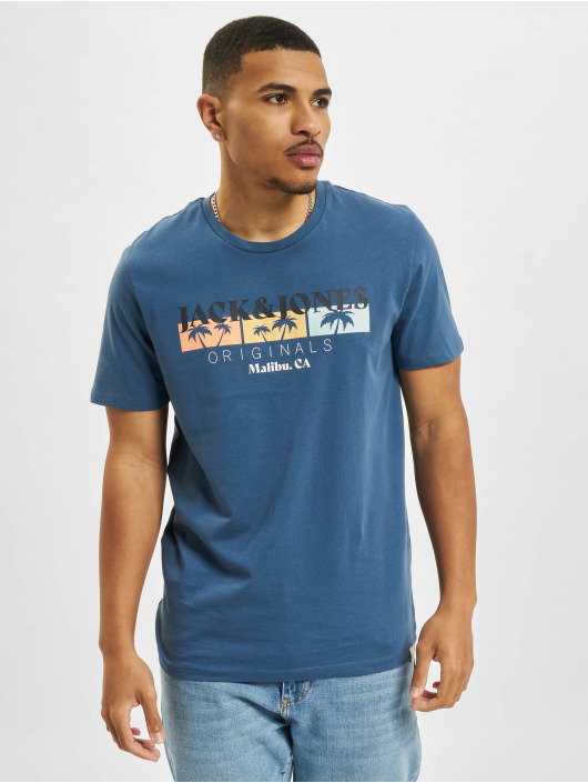 Jack & Jones T-Shirt Jorcabana Crew Neck blau