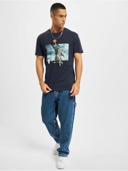 Jack & Jones T-Shirt Jcolegends Statement Crew Neck blau