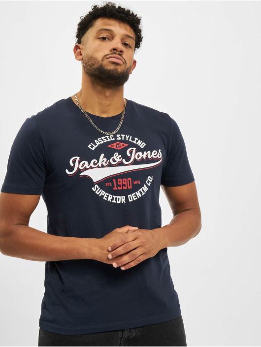 Jack & Jones T-Shirt Jjelogo O-Neck blau