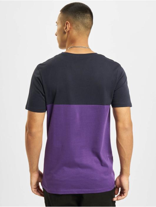 Jack & Jones T-Shirt Jjeurban Blocking O-Neck blau