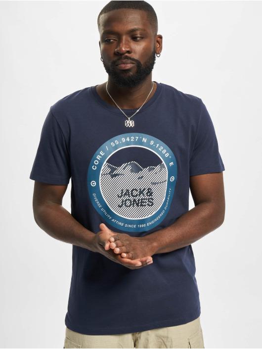 Jack & Jones T-Shirt Jcobilo Crew Neck blau