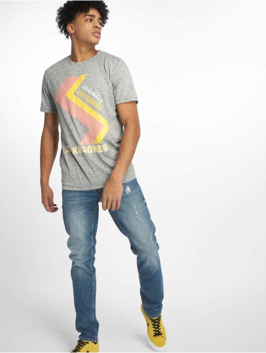 Jack & Jones t-shirt jorRodo blauw