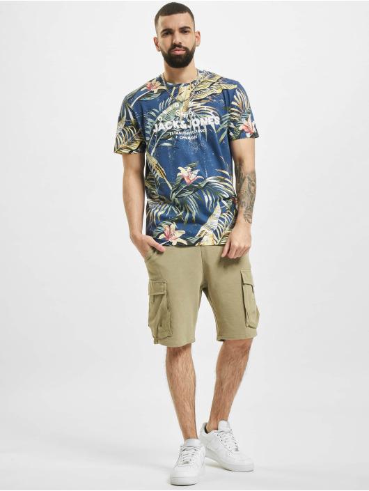 Jack & Jones t-shirt jjPop Print blauw
