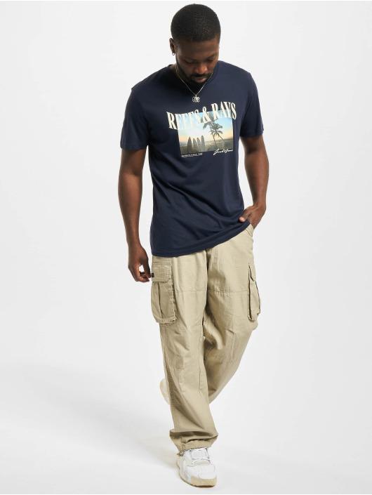Jack & Jones t-shirt Jormaldives Crew Neck blauw