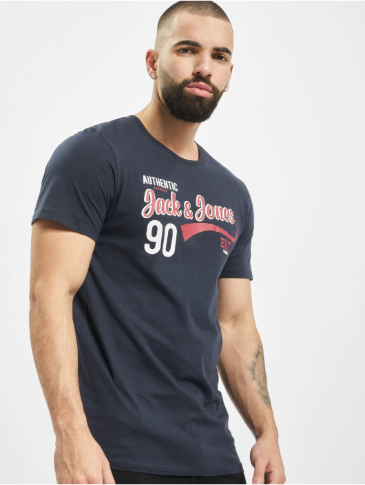 Jack & Jones T-Shirt jjeLog bleu