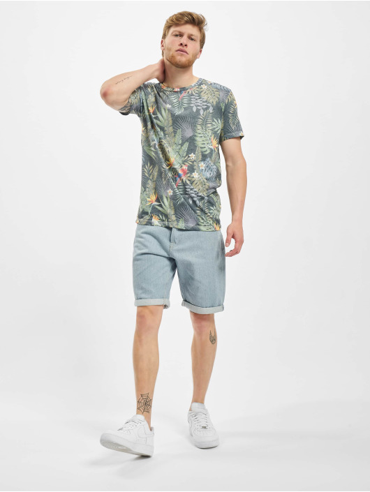 Jack & Jones T-Shirt jorTropicalbirds bleu