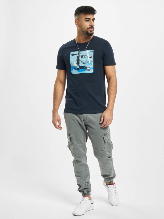 Jack & Jones T-Shirt jcoSignal bleu