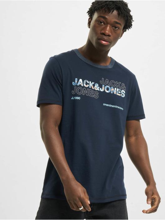 Jack & Jones T-Shirt jcoArt bleu