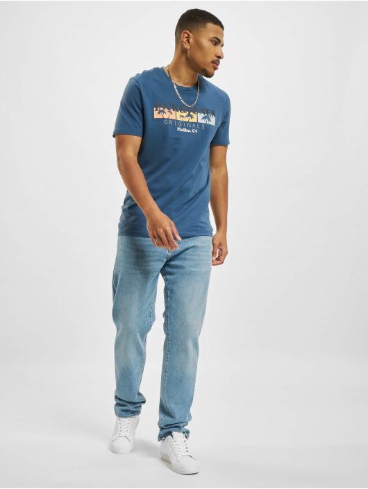 Jack & Jones T-Shirt Jorcabana Crew Neck bleu