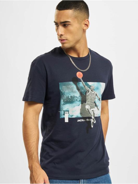 Jack & Jones T-Shirt Jcolegends Statement Crew Neck bleu