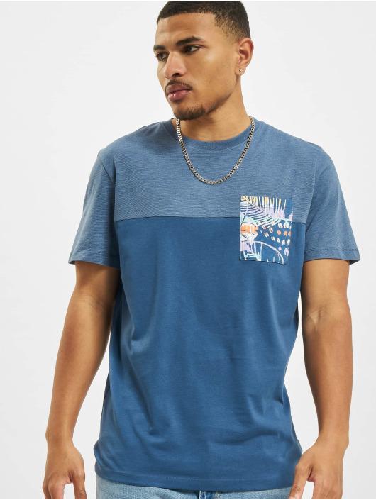 Jack & Jones T-Shirt Jorhazy Pocket Crew Neck bleu