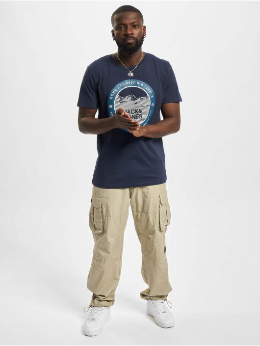 Jack & Jones T-Shirt Jcobilo Crew Neck bleu