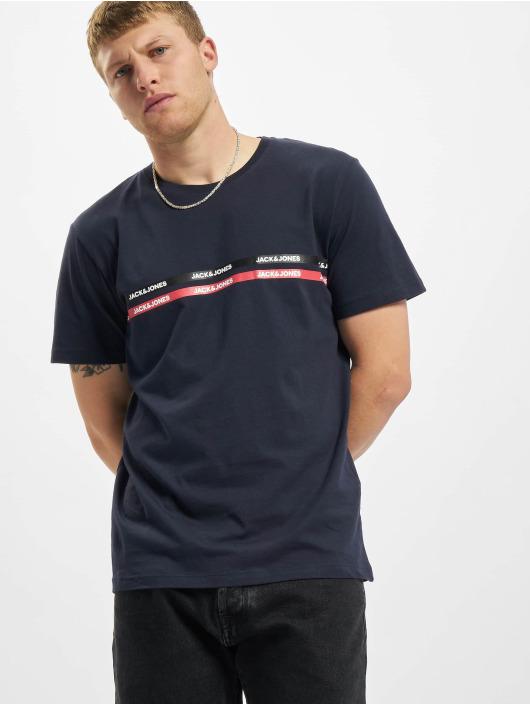 Jack & Jones T-Shirt Jjgavin bleu