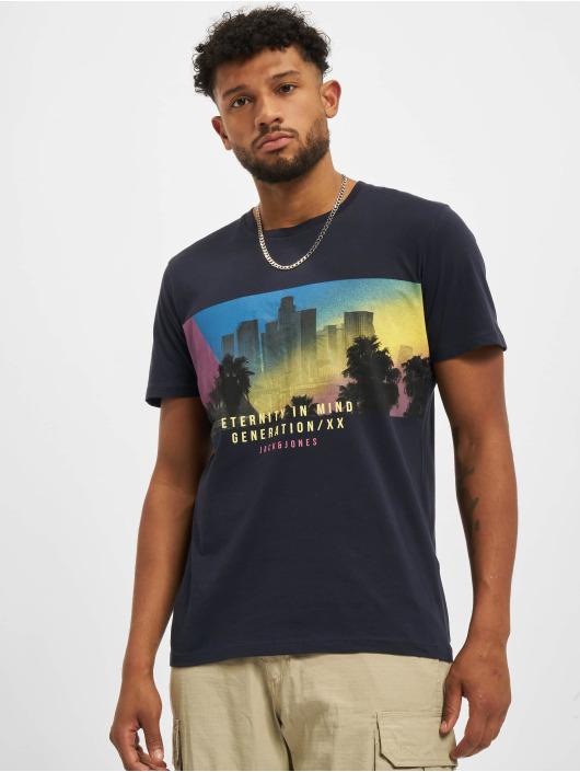 Jack & Jones T-Shirt Jjurban City Crew Neck bleu