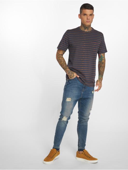 Jack & Jones T-Shirt jorTexturestripe blue