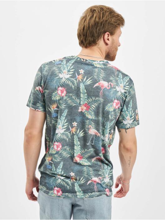 Jack & Jones T-Shirt jorTropicalbirds blue