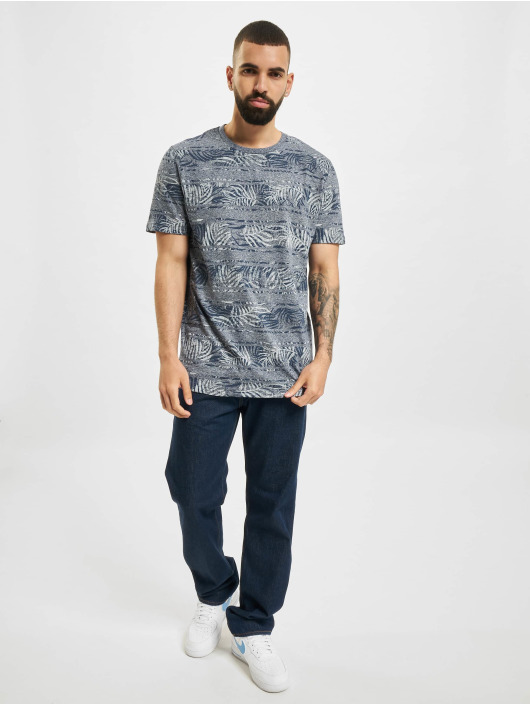 Jack & Jones T-Shirt JPR Bludust Placement Stripe blue