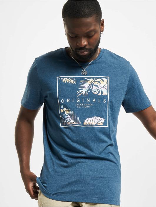 Jack & Jones T-Shirt Jorhaazy Crew Neck blue