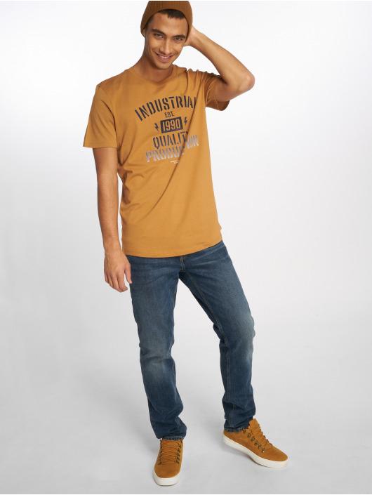 Jack & Jones T-Shirt jcoFlock Camp braun