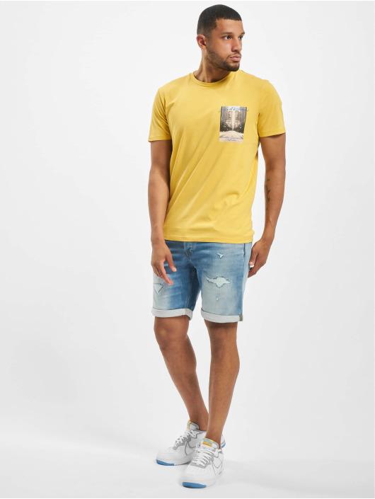 Jack & Jones t-shirt jorHolidaz geel