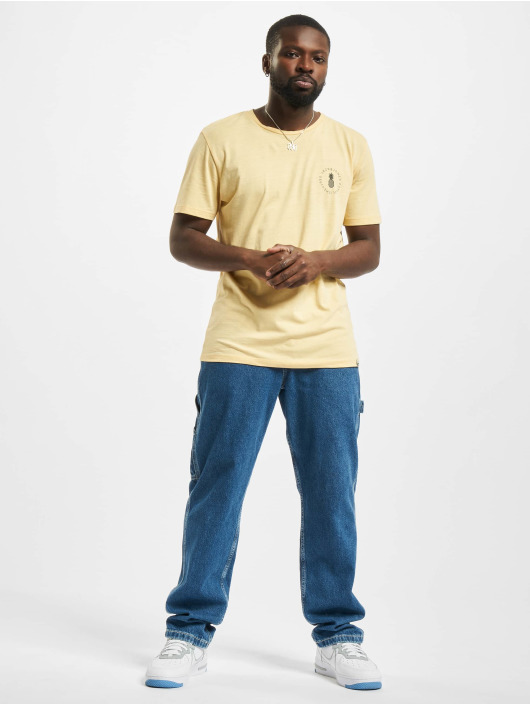 Jack & Jones t-shirt Jorpoolside geel