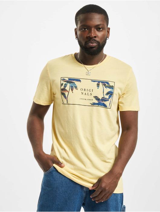 Jack & Jones t-shirt Jorhaazy Crew Neck geel