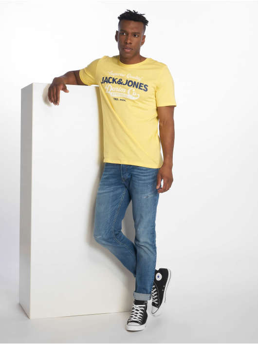 Jack & Jones T-Shirt jjeLogo gelb