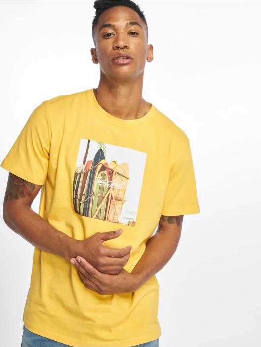 Jack & Jones T-Shirt jorHotel gelb