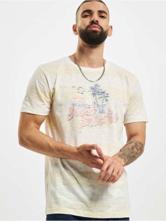 Jack & Jones T-Shirt jjResort gelb