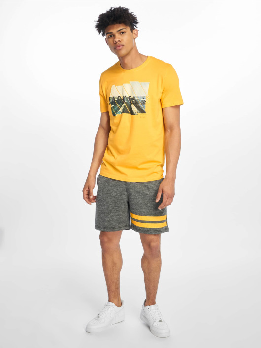 Jack & Jones T-Shirt jcoSpring-Feel gold colored