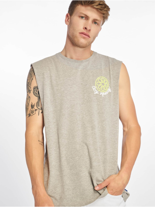 Jack & Jones T-Shirt jorNeon Muscle grau
