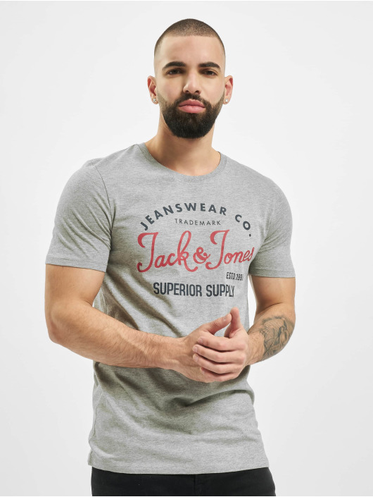 Jack & Jones T-Shirt JjeLog grau