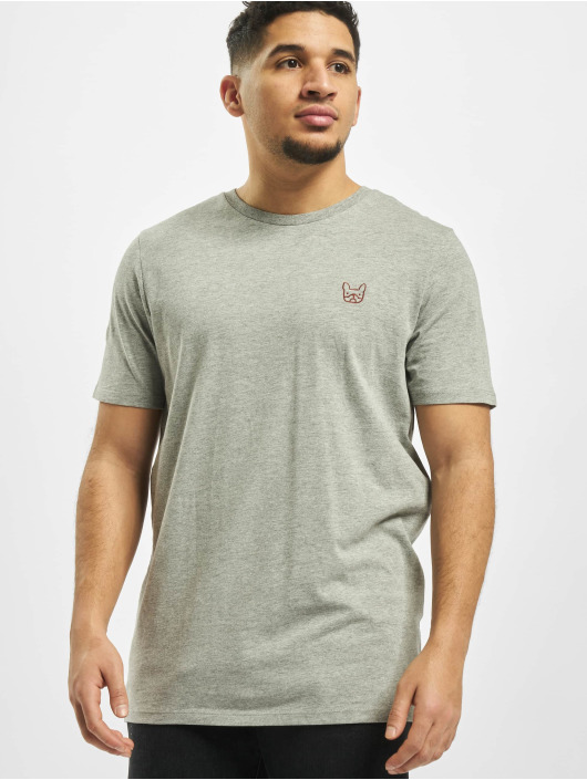 Jack & Jones T-Shirt jjeDenim Logo O-Neck Noos grau