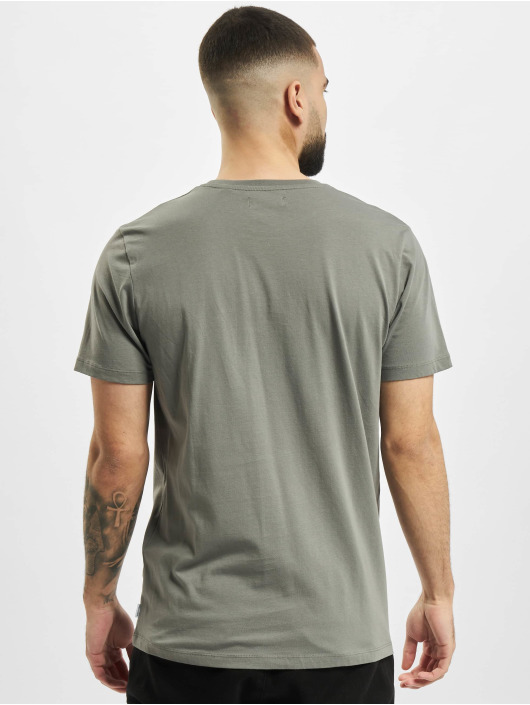 Jack & Jones T-Shirt jjCircle Flock grau